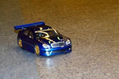 Innekjøring i aulaen på Seiersten. HPI Sprint Mercedes AMG